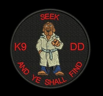 K9 DD - Embroidered Badge